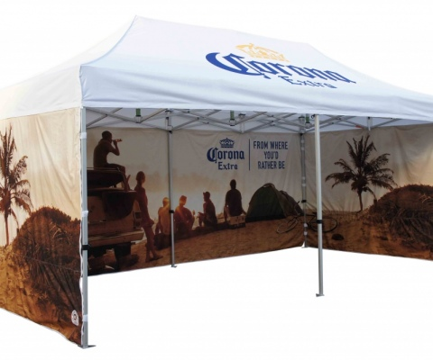 Branded pop-up gazebos - plain or custom printed